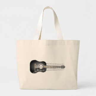 Vintage Guitar with Sheet Music  - Bag