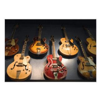 Vintage Guitars Photographic Print
