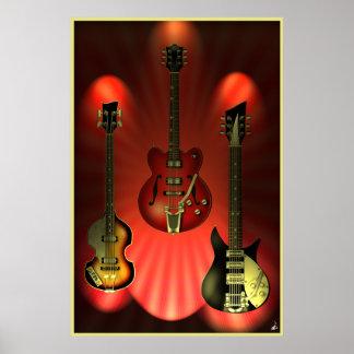 Vintage Guitars Poster