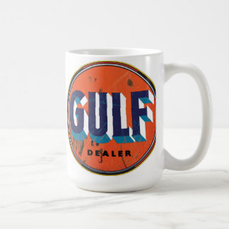 Vintage gulf sign mugs