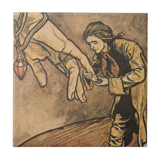 Vintage Gulliver's Travels by Arthur Rackham Ceramic Tile