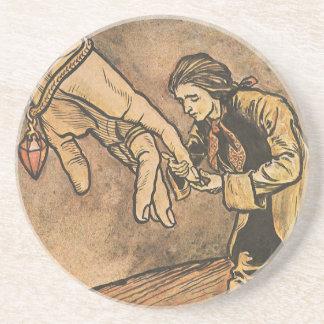 Vintage Gulliver's Travels by Arthur Rackham Coaster