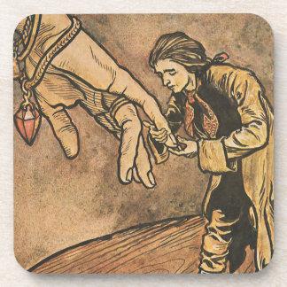 Vintage Gulliver's Travels by Arthur Rackham Beverage Coasters