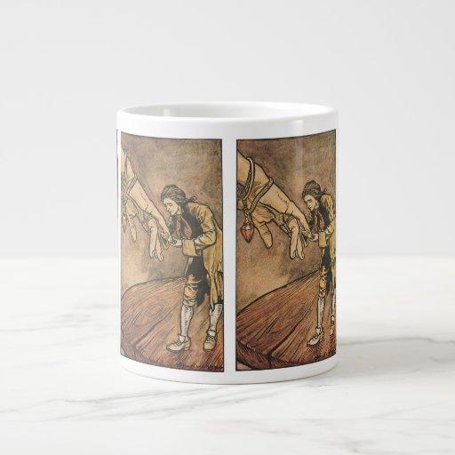 Vintage Gulliver's Travels by Arthur Rackham Giant Coffee Mug