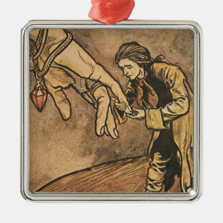 Vintage Gulliver's Travels by Arthur Rackham Metal Ornament