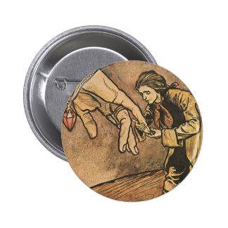 Vintage Gulliver's Travels by Arthur Rackham Pinback Button