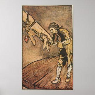 Vintage Gulliver's Travels by Arthur Rackham Posters