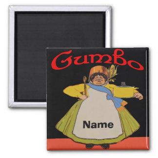 Vintage Gumbo Cook Magnet