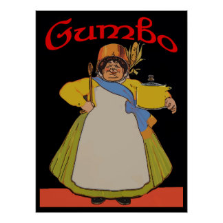 Vintage Gumbo Cook Poster