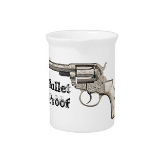 Vintage Gun Bullet Proof or Edit Text Beverage Pitchers
