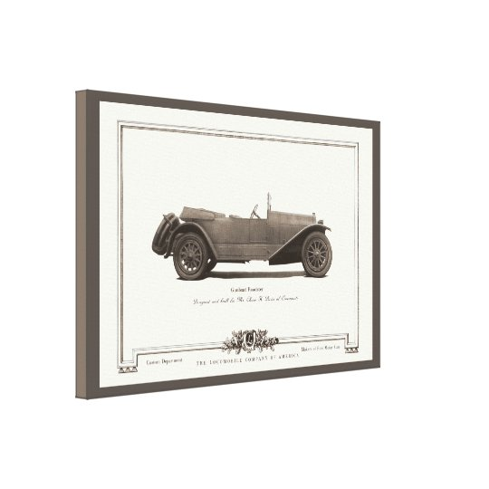 Vintage Gunboat Roadster Automobile Ad from 1919 Canvas Print