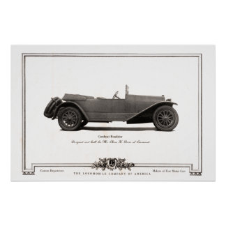 Vintage Gunboat Roadster Automobile Ad from 1919 Poster