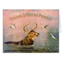 Vintage Gunpowder Ad 1873 Card