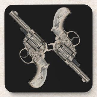Vintage Guns Duel Dueling Pistols Beverage Coaster