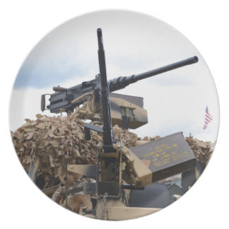 Vintage Guns On WWII Armor Party Plate