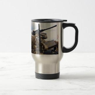 Vintage Guns On WWII Armor Travel Mug