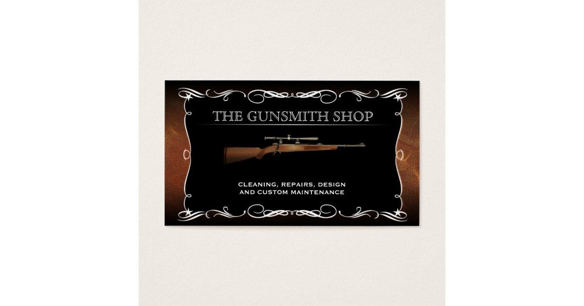 Vintage Gunsmith Gun Shop Business Cards | Zazzle.com
