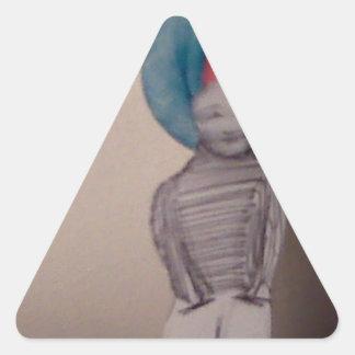 vintage guy triangle sticker