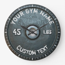 Vintage Gym Owner or User Fitness 45 Pounds Funny Large Clock