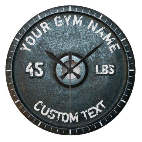 Vintage Gym Owner or User Fitness 45 Pounds Funny Large Clock