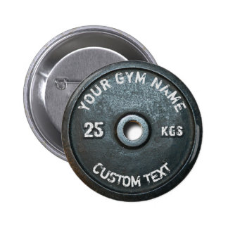 Vintage Gym Owner or User With Fitness Funny Button