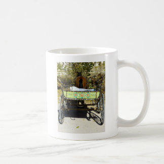 Vintage Gypsy Caravan Trailer and Horse Cart photo Coffee Mug
