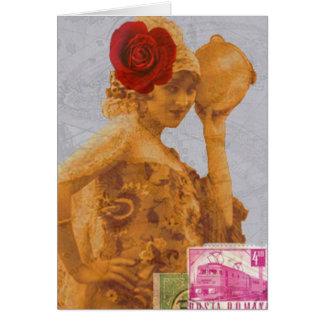 Vintage Gypsy Greeting Card