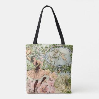 Vintage Gypsy Dancing Ephemera Tote Bag