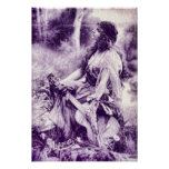 Vintage Gypsy Girl Poster