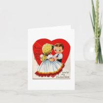 Vintage Gypsy Girl Valentine Card