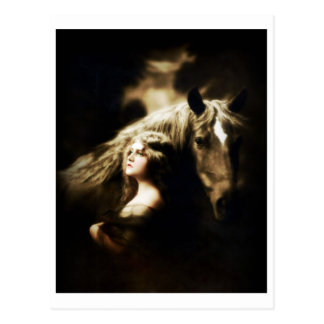 Vintage Gypsy Girl with Horse Postcards