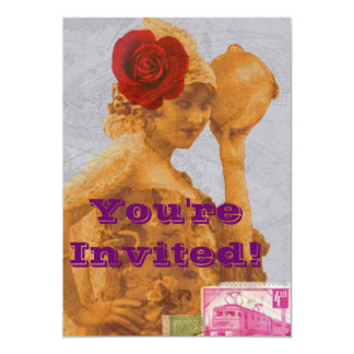 Vintage Gypsy 5x7 Paper Invitation Card