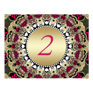 Vintage Gypsy Lace Wedding Table Number Postcard