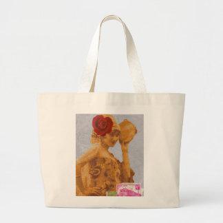 Vintage Gypsy Large Tote Bag
