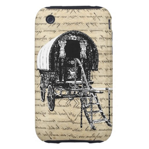 Vintage Gypsy wagon iPhone 3 Tough Cases