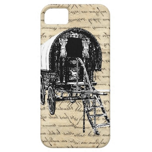 Vintage Gypsy wagon iPhone 5 Cover