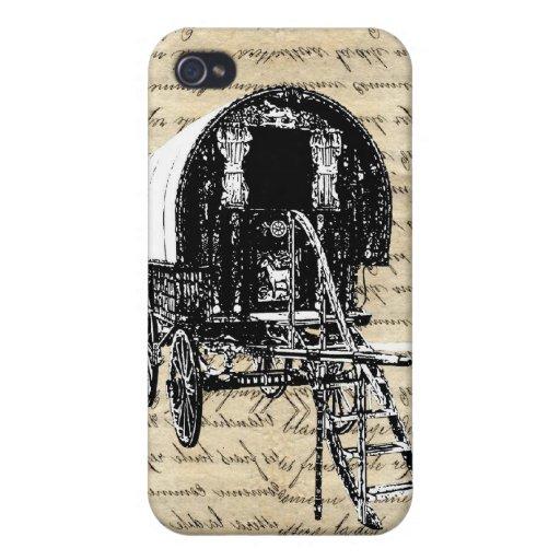Vintage Gypsy wagon iPhone 4 Cases