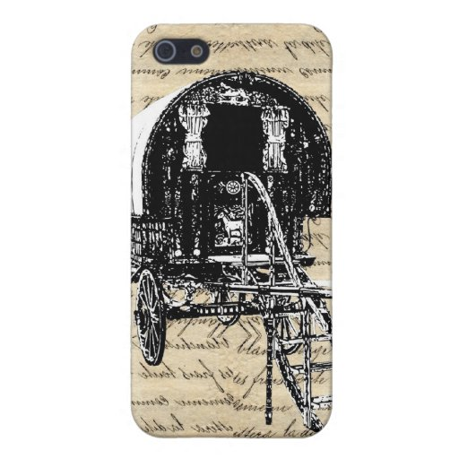 Vintage Gypsy wagon Covers For iPhone 5