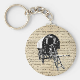 Vintage Gypsy wagon Key Chains
