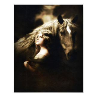 Vintage GYPSY with HORSE Photograph