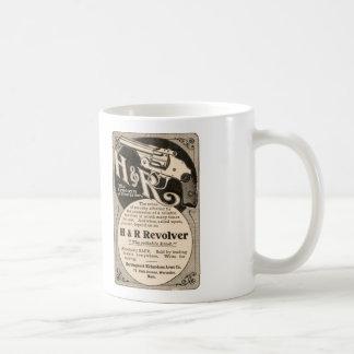 Vintage H&R Firearm Revolver Gun Pistol Coffee Mug