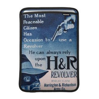 Vintage H&R Revolver Blue Apple Macbook Air Sleeve