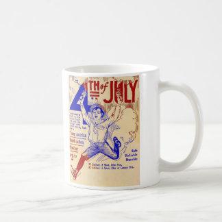 Vintage H&R Revolver Gun Ad July 4th Coffee Mug