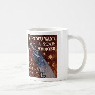 Vintage H&R Revolver Gun July 4th Star Coffee Mug
