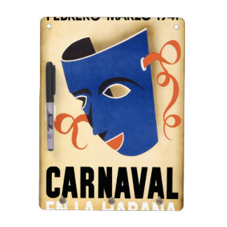 Vintage Habana Carnaval Poster Dry-Erase Whiteboards