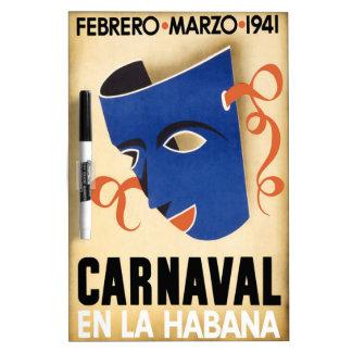 Vintage Habana Carnaval Poster Dry Erase Whiteboard