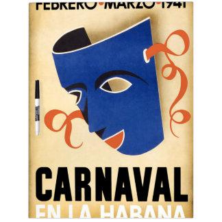 Vintage Habana Carnaval Poster Dry Erase Boards