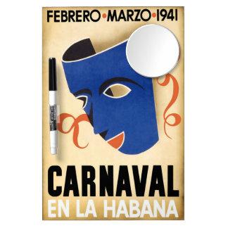 Vintage Habana Carnaval Poster Dry-Erase Whiteboard