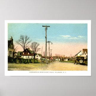 Vintage Haddonfield Rd Short Hills NJ Print