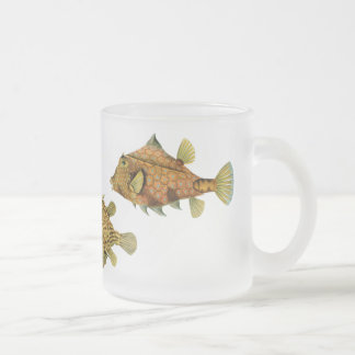 Vintage Haeckel Fish 10 Oz Frosted Glass Coffee Mug